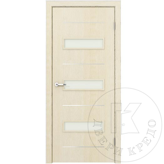 Glazed door with aluminum accent lines. Model Modern PDO.109