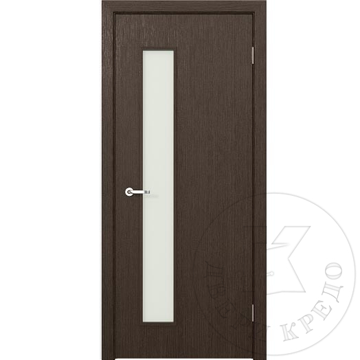 Glazed door with aluminum accent lines. Model Modern PDO.114